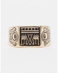ASOS - Metallic Geo-Tribal Signet Ring Pack for Men - Lyst