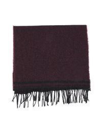 Dents | Purple Mens Striped Edge Scarf for Men | Lyst