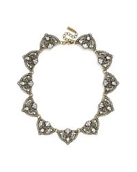 BaubleBar | Metallic 'zelda' Crystal Collar Necklace - Clear/ Antique Gold | Lyst