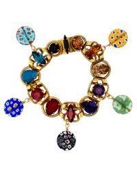 Vickisarge - Multicolor Multicolour Artisan Crystal Bracelet - Lyst