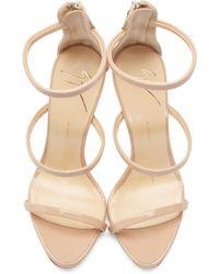 Giuseppe Zanotti - Pink Coline Heeled Sandals - Lyst