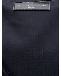 Want Les Essentiels De La Vie Blue Hartsfield Canvas Weekend Bag for men