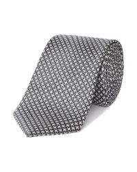 Ted Baker | Gray Lucky Diamond Geo Print Tie for Men | Lyst