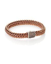 John Hardy | Metallic Classic Chain Bronze & Silver Bracelet for Men | Lyst
