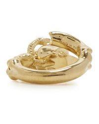 Alexander McQueen | Metallic Gold Tone Skull And Talon Ring | Lyst