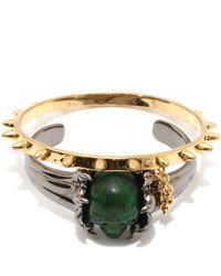 Alexander McQueen - Green Claw Skull Double Bangle - Lyst
