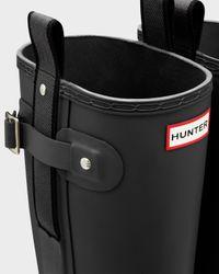 HUNTER Black Men's Original Pulltab Lightweight Wellington Boots for men