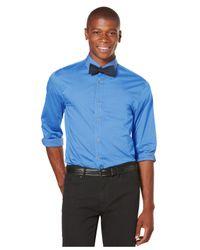 Perry Ellis Blue Iridescent Shirt for men
