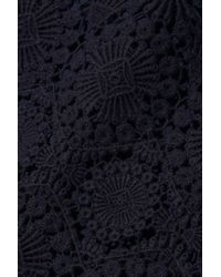 Tory Burch Blue Trixy Crocheted Cotton-Lace Dress