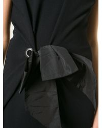 Lanvin | Black Bow Detail Dress | Lyst