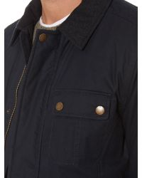 Howick Black The Hawker Wax Jacket for men
