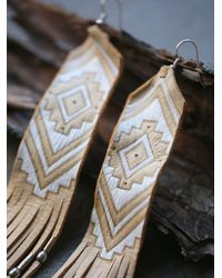 Free People | Metallic Earth Ceremony Earrings | Lyst