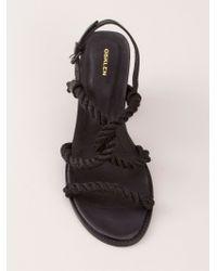 Osklen Black Rope Strap Sandals