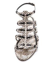 Jason Wu | Snakeskin Flat Sandals | Lyst