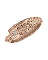 Michael Kors - Metallic Pave Pyramid Stud Leather Double-Wrap Bracelet - Lyst