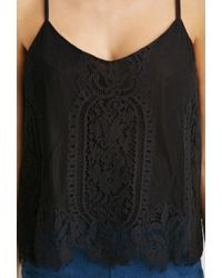 Forever 21 Black Floral Lace Cami