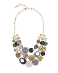 Saks Fifth Avenue | Metallic Mixed-finish Coin Bib Necklace | Lyst