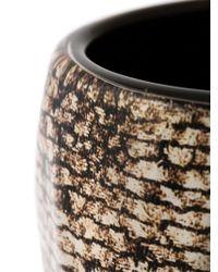 Giorgio Armani - Brown Rigid Animal Print Cuff - Lyst