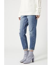 TOPSHOP Gray Magnum Mid Ankle Boots