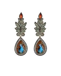 Sevan Biçakci | Multicolor Women's Peacock-intaglio Drop Earrings | Lyst