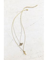 Urban Outfitters | Metallic Talisman Charms Layered Necklace | Lyst