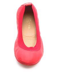 Yosi Samra Samara Leather Flats - Chili Red
