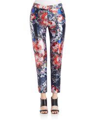 Sachin & Babi Blue Isabel Cropped Floral Pants