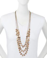 Jules Smith - Metallic Triple-strand Medallion Necklace - Lyst