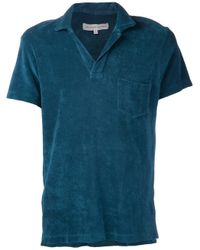 Orlebar Brown Green Terry Cloth Shirt for men