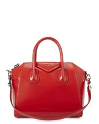 Givenchy Antigona Small Red Leather Tote