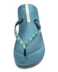 Ipanema Ana Ethnic Flip Flops - Blue