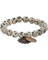 Miracle Icons | Natural Dalmation Jasper Charm Bracelet for Men | Lyst