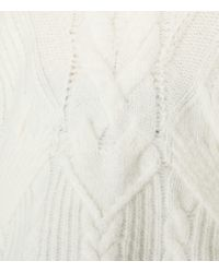 Reiss - White Maia Cable-knit Jumper - Lyst