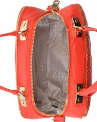 Badgley Mischka | Red Clarisse Nappa Leather Handbag | Lyst