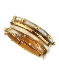 Ashley Pittman - Metallic Kamata Horn & Bronze Bangles - Lyst
