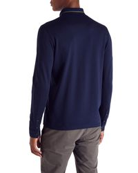 Ted Baker | Blue Plooto Long Sleeved Polo Shirt for Men | Lyst