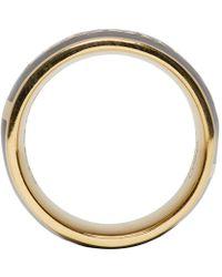 Alexander McQueen - Metallic Black Enamel Ring - Lyst