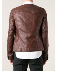 Rick Owens Brown Leather Jacket for men