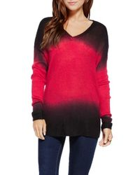 Two By Vince Camuto Multicolor Dip Dye Pullover Sweater