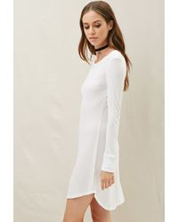 Forever 21 - White Nytt Charlotte Split Slim Dress - Lyst