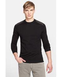 Belstaff - Black 'ridgewell' Cotton Crewneck Sweater for Men - Lyst