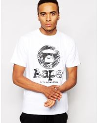 Aape White By Bathing Ape T-Shirt With Circle Print for men
