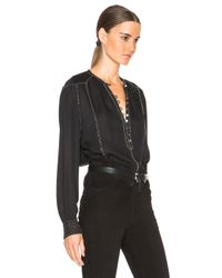 Isabel Marant - Black Alivia Evening Beaded Georgette Blouse - Lyst