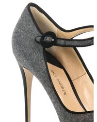 Paul Andrew Gray Taplow Felted-Wool Pumps