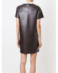 MSGM   Brown Pocket Shift Dress   Lyst