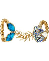 Betsey Johnson | Into The Blue Fishbone Double Stretch Ring | Lyst