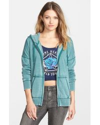 Volcom | Green 'lived In' Full Zip Hoodie | Lyst