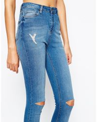 Taller Than Your Average Blue Ttya Bust Knee Skinny Jeans