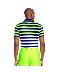 Ralph Lauren - Green Slim-fit Striped Polo Shirt for Men - Lyst