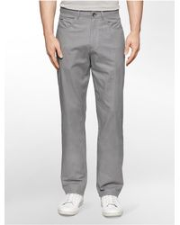 Calvin Klein | Gray White Label Straight Fit 5-pocket Twill Pants for Men | Lyst